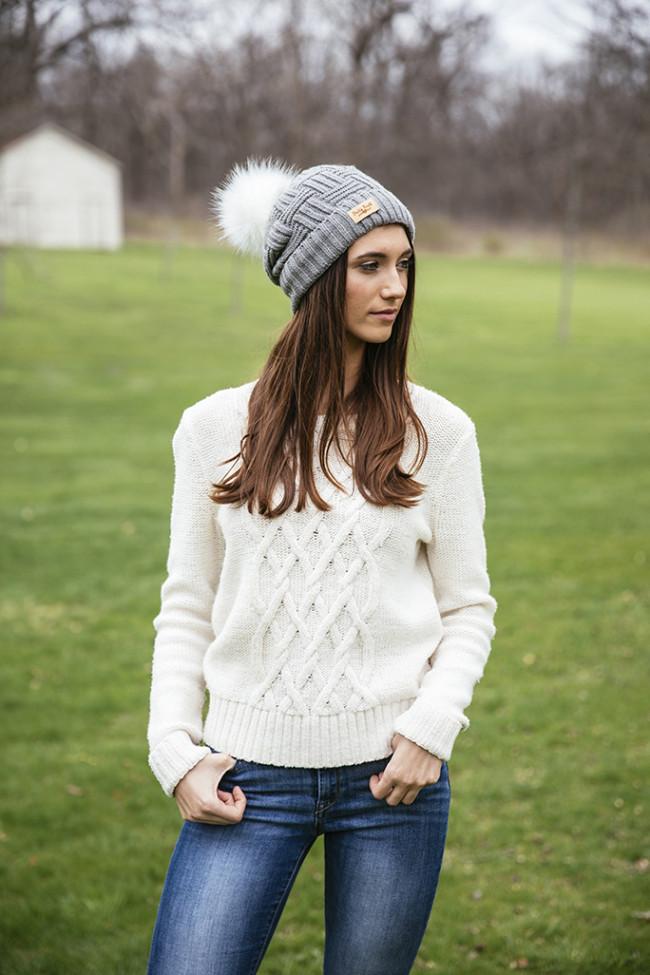 Reorder Britt S Knits Plush Lined Knit Hat W Pom 2pcs