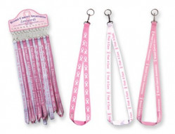 BREAST CANCER LANYARDS 36 PC