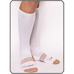 COPPER 88 LADIES KNEE SOCKS, WHITE, ONE SIZE - MIN 2 PER STYLE
