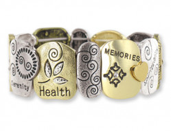 Re-order: FAMILY IS 4EVR TILE STRETCH BRACELET 6 pcs min