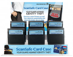 SCANSAFE MEN'S RFID CREDIT CRD 24PC AST