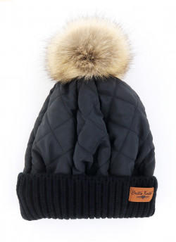 QUILTED PUFF HAT 6PC UNIT