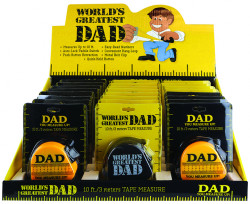 DAD TAPE MEASURE 24PC DISPLAY