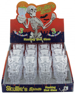Skullie's Spirits Flashing Shot Glass