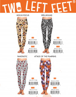 Reorder: Two Left Feet Halloween Leggings 3PCS per Size/Style