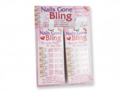 VAL NAIL BLING STRIPS 24PC DIS