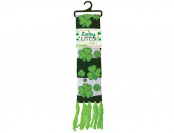 ST PATS LITE UP SCARF 12PC AST