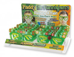 ST PATS LIGHT UP GLASSES 12PC