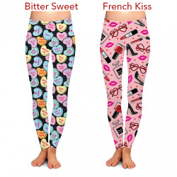 Reorder: Two Left Feet Valentines Lovely Leggings Min 3PCS per Style/Size