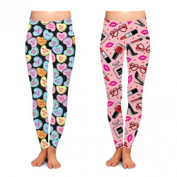 Two Left Feet Valentines Lovely Leggings 24PCS