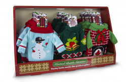 XMAS WINE BOTTLE SWEATERS 24PC