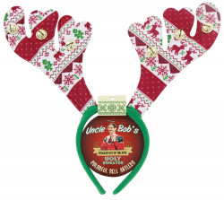 Ugly Sweater Bell Antlers 24PCS W/ Display