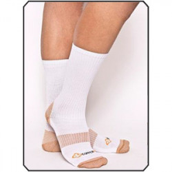 COPPER 88 MENS MID SOCKS, WHITE, ONE SIZE - MIN 2 PER STYLE